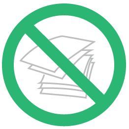 No Paper Icon