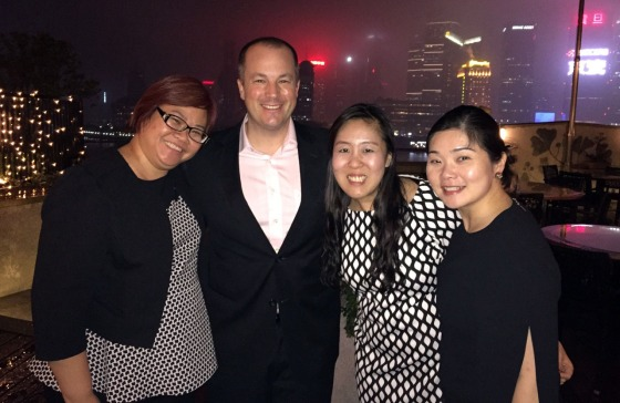From left, Diana Ong, Peter Meyers, Sheena Chan and Kaie Lim.
